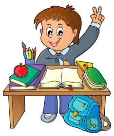 وکتور کارتونی دانش آموز