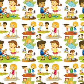 وکتور لایه باز کاراکترهای کارتونی کودک و مادر