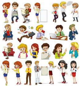 مجموعه وکتور کاراکترهای کارتونی