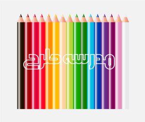 وکتور بنر آموزشی مدرسه طرح مداد رنگی