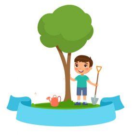 وکتور درختکاری دانش آموزی