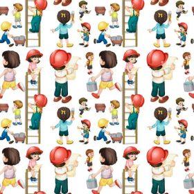وکتور کاراکترهای کودک در مشاغل