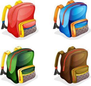 وکتور کارتونی کیف مدرسه