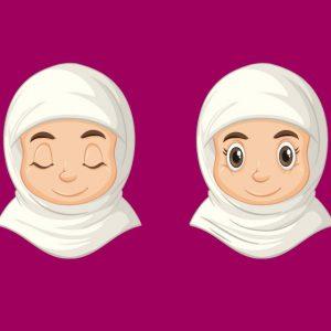 وکتور لایه باز دانش آموز دختر طرح حجاب
