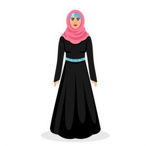 وکتور کاراکتر زن باحجاب
