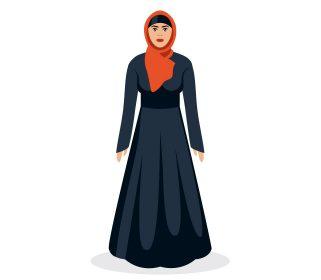 وکتور لایه باز طرح زن باحجاب
