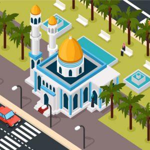 وکتور لایه باز مسجد