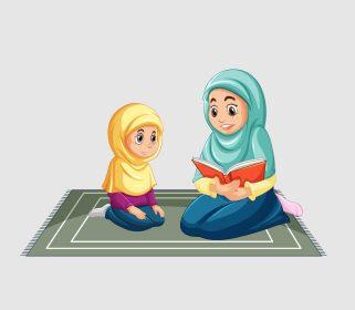 وکتور حجاب و کتاب خوانی