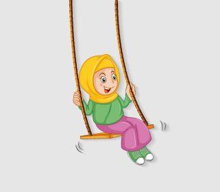 وکتور بازی کردن دانش آموز دختر
