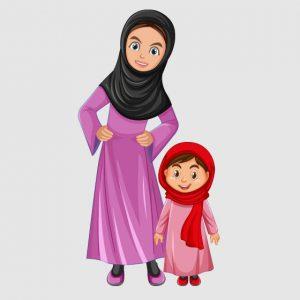 وکتور لایه باز حجاب در خانواده