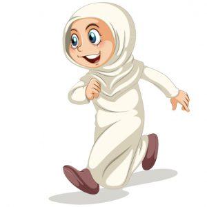 وکتور کاراکتر دختر با حجاب