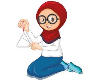 وکتور دختر نوجوان با حجاب