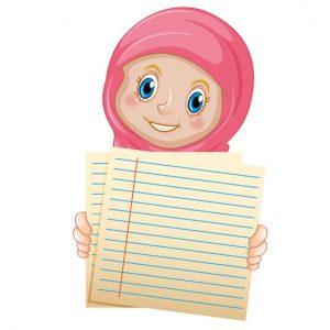 وکتور بنر آموزشی حجاب طرح دفتر مشق