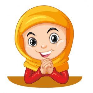 وکتور لایه باز دختر با حجاب