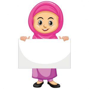 وکتور لایه باز بنر آموزشی طرح حجاب
