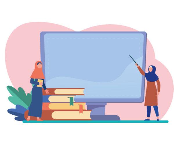 وکتور کاراکتر معلم با حجاب